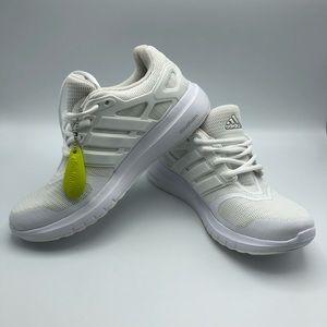 NWT. Adidas White Cloudfoam Sneakers. Size 7.